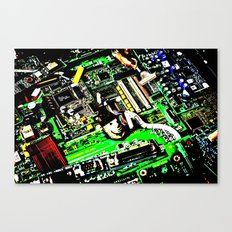 Digital Electrons Canvas Print