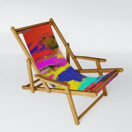 Rainbow Abstract II Sling Chair