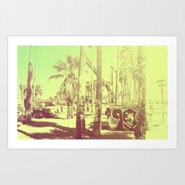Retro Venice Beach 2 Art Print