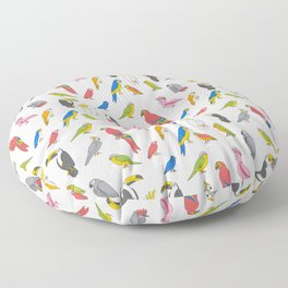 Tropical birds jungle animals parrots macaw toucan pattern Floor Pillow