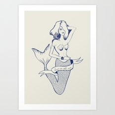 Lost in the sea Art Print