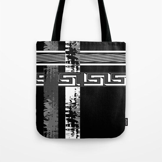 Creative Black and white pattern . The braided belts . Tote Bag