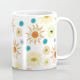 mid century retro sun solar 60's pattern Coffee Mug