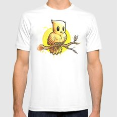 Stop Overthinking This Gosh Darn Crap and Just Draw a Bird! Mens Fitted Tee MEDIUM White