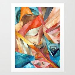 Cali Cubical Art Print
