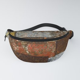 Metallic Textures Mosaic Collage by Annalisa Ramondino Fanny Pack