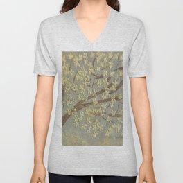 Tree Blossoms Unisex V-Neck