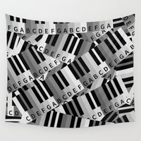 piano Wall Tapestries featuring Piano Keys by mailboxdisco