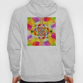 Colorful Abstract Swirly Tune Design (Fancy Fresh And Modern Hippy Style) Hoody