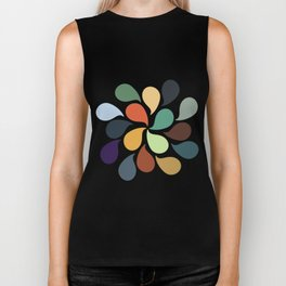 Colorful Water Drops Biker Tank