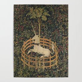 The Unicorn in Captivity (from the Unicorn Tapestries) Poster