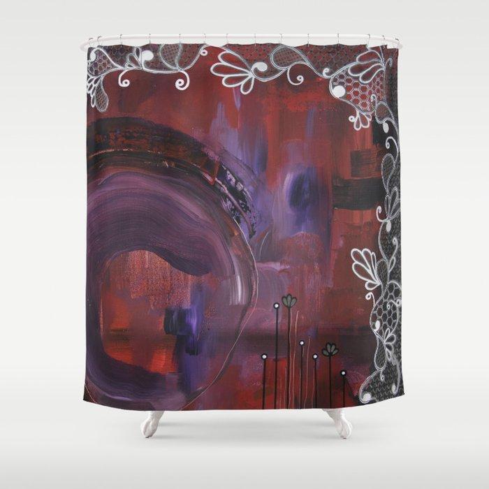 Black Velvet Shower Curtain by crimsonpearl | Society6