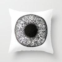 iris Throw Pillows featuring Iris by ECMazur