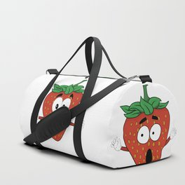 The Many Faces of Daryll Strawberry - An Emotional Strawberry Duffle Bag