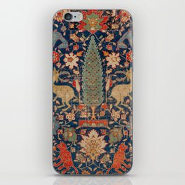 17th Century Persian Rug Print with Animals iPhone Skin