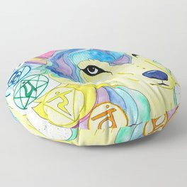 Chakra Wolf Floor Pillow