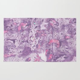 Purple Pink and Mint Marbling Rug