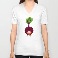 drum V-neck T-shirts featuring Beet's drum beat by Picomodi