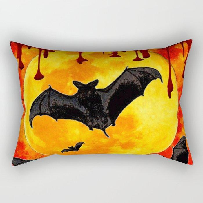 Bloody Full Moon Bats Rectangular Pillow