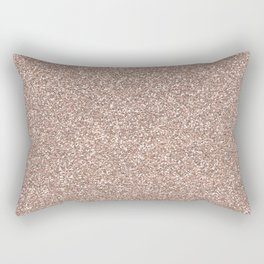 Rose gold glitter Rectangular Pillow