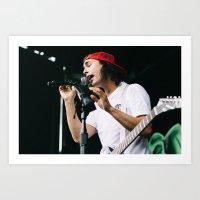 pierce the veil Art Prints featuring Pierce The Veil at Warped Tour '15 by Kelly Ann Shuler