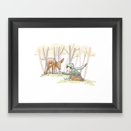 Autumn Friends Framed Art Print