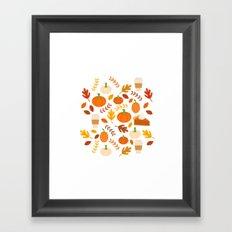 Everything Autumn Framed Art Print