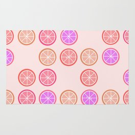Pink Juicy Fruit Slices Rug