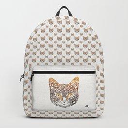 Swirly Cat Portrait Backpack