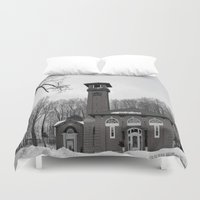 poland Duvet Covers featuring Poland Springs Museum by Catherine1970