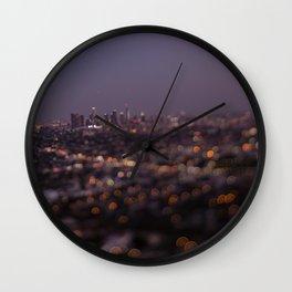 Angel City Lights (L.A. at Night) Wall Clock