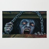evil dead Area & Throw Rugs featuring THE EVIL DEAD by chris zombieking