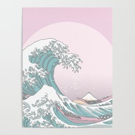 Great Wave Pastel Poster