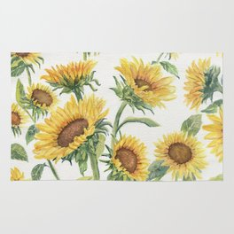 Blooming Sunflowers Rug