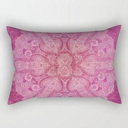 Big paisley mandala in raspberry Rectangular Pillow