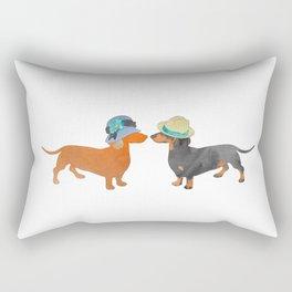 Dachshund love Rectangular Pillow