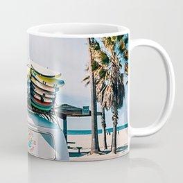 Surf Van On The Beach Coffee Mug