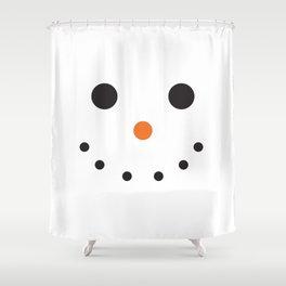 Snowman Holiday Shower Curtain