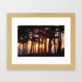 Light Run Framed Art Print
