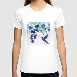 blueberry and humming bird T-shirt