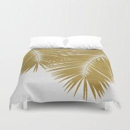 Palm Leaf Gold II Duvet Cover