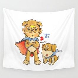 super kid & dog Wall Tapestry
