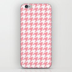 Pink Houndstooth Pattern iPhone & iPod Skin