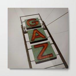 Gaz Metal Print