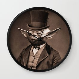 Portrait of Sir Yoda Wall Clock