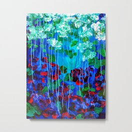 Abstract Flowers - No one knows her better Metal Print