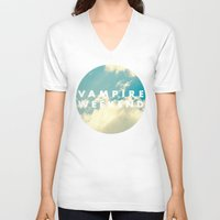 vampire weekend V-neck T-shirts featuring Vampire Weekend clouds logo by Elianne