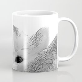 kitten in a blanket b&w Coffee Mug