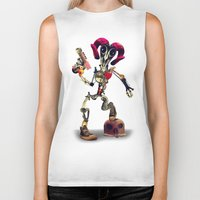 invader zim Biker Tanks featuring Invader Skull by Ali GULEC