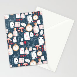 Alice in Wonderland - Indigo madness Stationery Cards